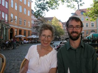 Jane and David in Copenhagen.